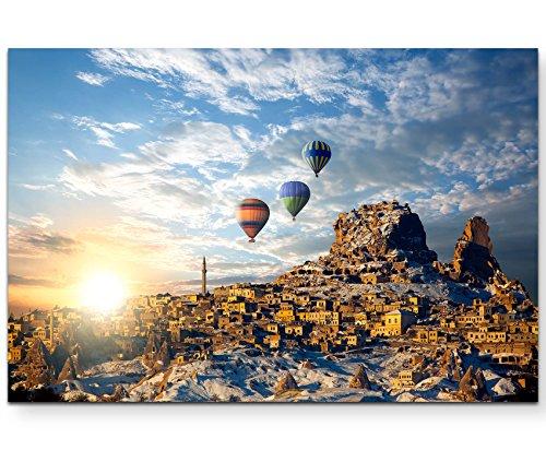 Paul Sinus Art Leinwandbilder | Bilder Leinwand 120x80cm Bunte Heißluftballons über Kappadokien