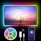 WiFi Tira Led TV, igosund Inteligente Luces LED 2,8M USB Control de App, Funciona con Alexa/Google Home, 16 Millones Colores, Retroiluminación LED RGB PC Monitor (40-60 Pulgadas)