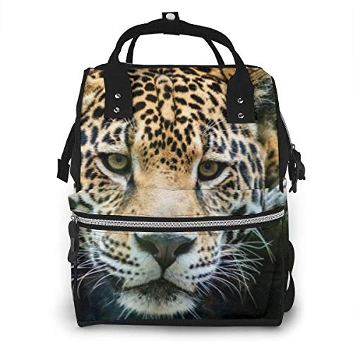 Diaper Bag Backpack Travel Bag Large Multifunction Waterproof South American Jaguar Stylish and Durable Nappy Bag for Baby Care School Backpack
