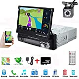 Single Din Car Stereo 7 Inch Touch Screen Radio with GPS Navigation Supports Bluetooth Hands-Free FM Radio Mirror Link for Android Phone with Backup Camera 8G Map Card from Hikity