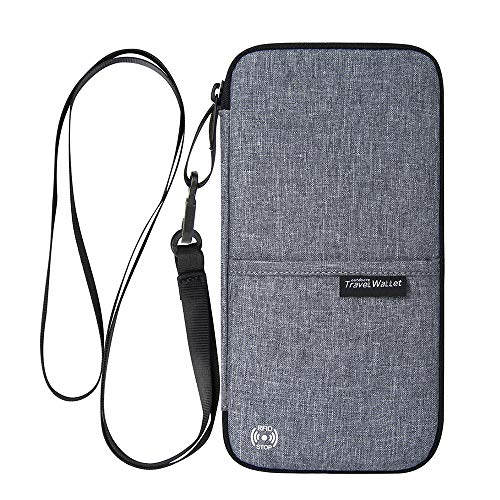 Reiseorganizer Tasche Ausweistasche mit RFID Blocker -Evershop Wasserdicht Reisedokumententasche Reisepass Tasche mit...