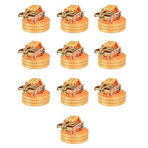 Spanbanden 1 ton 6mx38mm oranje 10 st