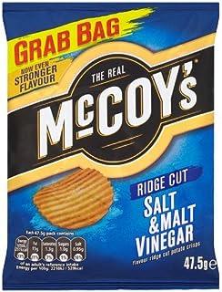 The Real McCoys Ridge Cut Salt and Malt Vinegar Flavour Potato Crisps (47.5g x 26)
