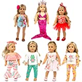 XFEYUE 18 inch Doll Clothes and Accessories for American 18 inch Girl Doll, Mermaid Costumes and Various Styles of Doll Clothes for Child Birthday Gifts