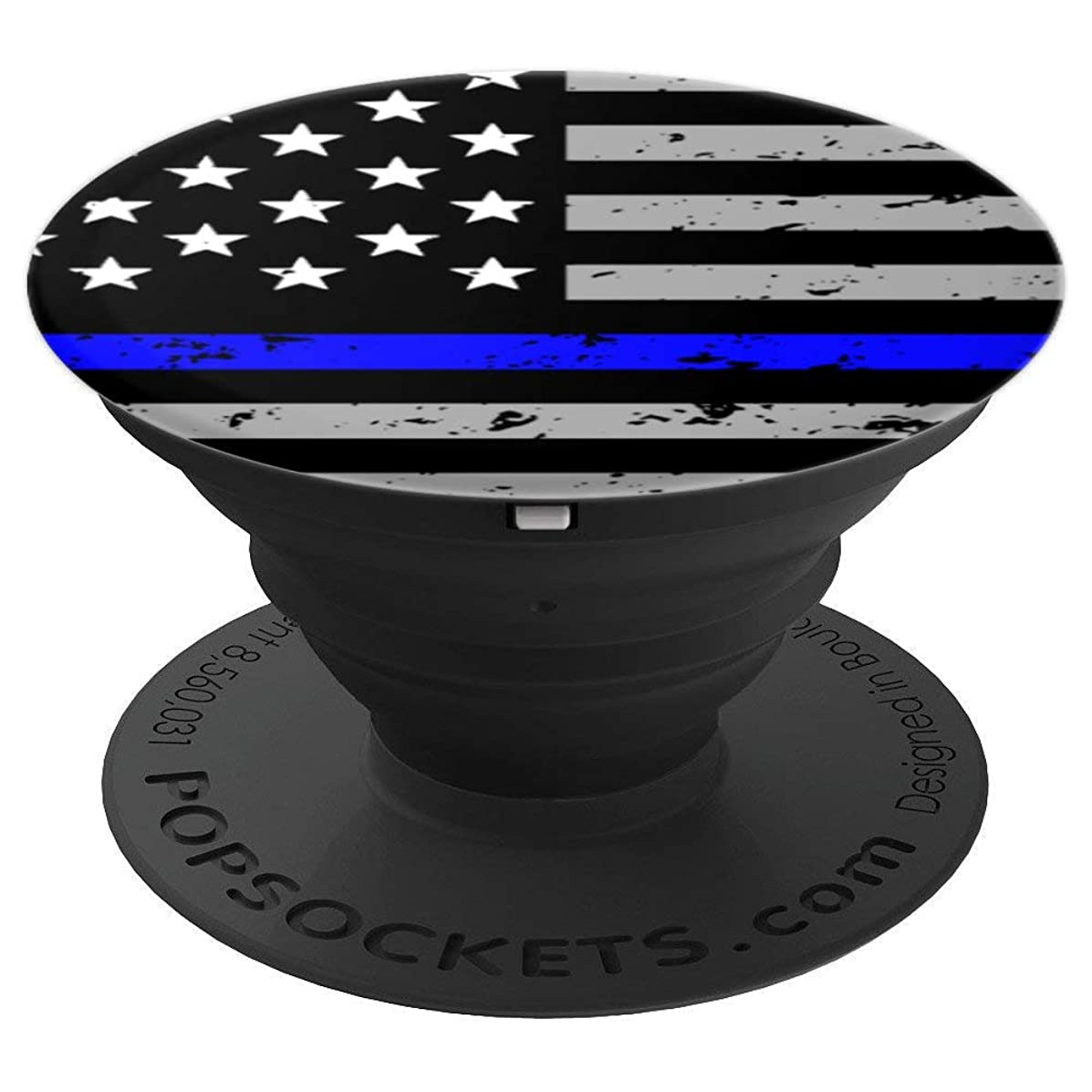 Thin Blue Line Back the Blue American Flag Stars and Stripes - PopSockets Grip and Stand for Phones and Tablets