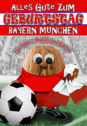 Bayern München Geburtstagskarte für einen Fußballnuss, innen vollfarbig
