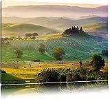 Wunderschöne neblige Toskana Landschaft Format: 120x80 auf