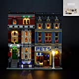 QJXF Juego De Luces USB Compatible con Lego Creator Experto Pet Shop 10218, LED Light Kit para (Creador De Expertos Tienda De Animales) De Bloques De Creación De Modelos (No Incluido Modelo)