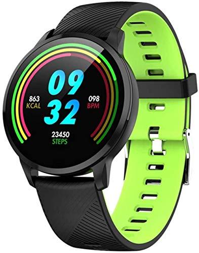 TYUI Reloj inteligente para hombre y mujer con frecuencia cardíaca, presión del sueño, podómetro, compatible con teléfonos Android e iOS