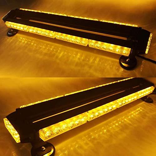 """Evershine Signal ES-318-4 Barra de Luces estroboscópicas de Techo para vehículos de Advertencia de Emergencia de 26.6""""con LED en Cuatro Lados 54W 12V DC-Ámbar (4 Barras)"""
