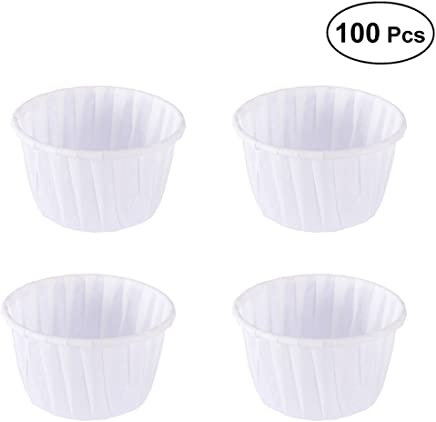 BESTONZON 100pcs Cupcake Papers Baking Cup Liners Cupcake Wrappers Greaseproof Muffin Paper Baking Cups (White)