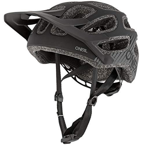 O'NEAL | Fahrradhelm Mountainbike | MTB Downhill Freeride | All-Mountain-/Enduro-Helm, einstellbare Passform | Thunderball Helmet Airy | Erwachsene | Schwarz | Größe XXS/52-M/57
