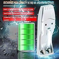 Ququack 充電式ニッケル水素電池AA AAA大容量USB充電器AAA/AA * 2 = 160mA USB DC5V入力USBポート/ ACコンバータ搭載