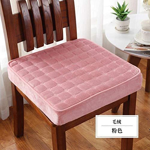 Suge Los Cojines Infantiles, Cojines de los Asientos Antideslizantes, Extra (Color : Pink, Size : 50x50x5cm(19.7x19.7x2inch))