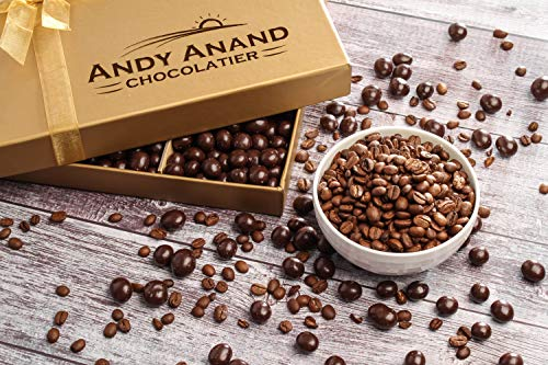 Andy Anand's Chocolates - Premium California Coffee Espresso Beans covered with Vegan Rich Dark Chocolate Corporate Gifts, All Natural and Certified made from Natural Ingredients (1 lbs)