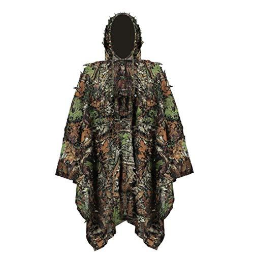 Hiinice Ghillie Anzug Camo Anzüge Stealth Sniper Set 3D-Camouflage Cape Umhang Army Sniper Militärkleidung Für Die Jagd Camping Vogelbeobachtung Praktische Versorgung