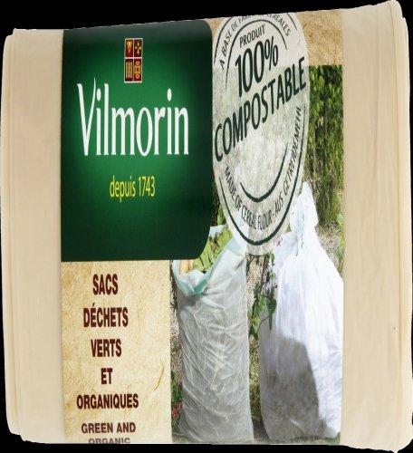Vilmorin VH06066 Sac à Déchets Vert et Organique Farine de Céréales 35 mm 110 L