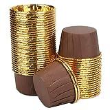 Aluminum Foil Cupcake Cups, Eusoar Disposable Muffin Liners 50Pcs, Baking Cups, Aluminum Cupcake Tip Pan Ramekin Holders, Little Pudding Cups