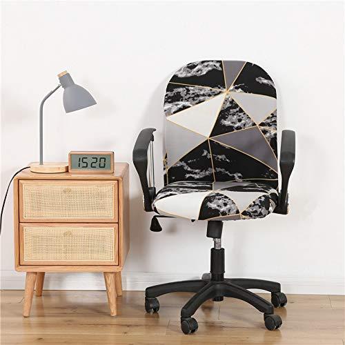 Fundas de silla de oficina/fundas universales para silla protector/funda de asiento de oficina de una sola pieza, tela elástica de algodón, extraíble, para silla giratoria de oficina