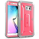SUPCASE [Unicorn Beetle PRO Series] Case for Galaxy S6 Edge (2015 Release), Full-Body Rugged Hybrid Protective Cover with Out Screen Protector (Pink)