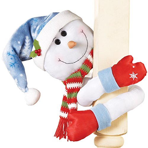 Collections Etc Lovable Snowman Hugger with Poseable Arms
