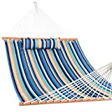 Lazy Daze Hammocks Quilted Fabric with Pillow for Two Person...
