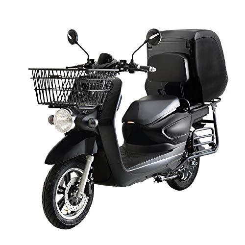 SUNRA CARGOO Scooter Eléctrica Matriculable 3000W/20AH(Motor Brushless, 3 vel, bateria litio 72v20Ah extraíble, autonomía 60km, baúl trasero) - Negro