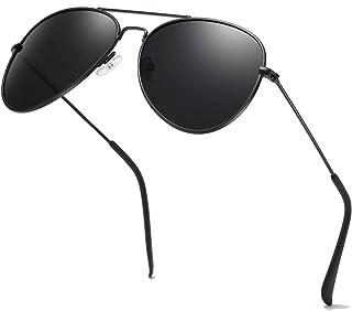 Classic Aviator Sunglasses for Men Women Metal Mirror UV...