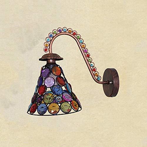 Sebasty Lámpara De Pared Creativa Pastoral Europea De Tiffany 5-15 Metros Cuadrados Dos Lámparas De Pared De Una Sola Cabeza Faros Dobles Lámparas De Iluminación Espejo Lámpara Frontal Sala De Estar D