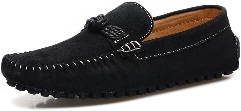 Yajie-schuhe, 2018 Herren Mokassins Herren Hanfseil Hanfseil Hanfseil Dekor Echtleder Slip-on Manual Sewing Loafers (Farbe   Schwarz, Größe   39 EU)  1dc4f3