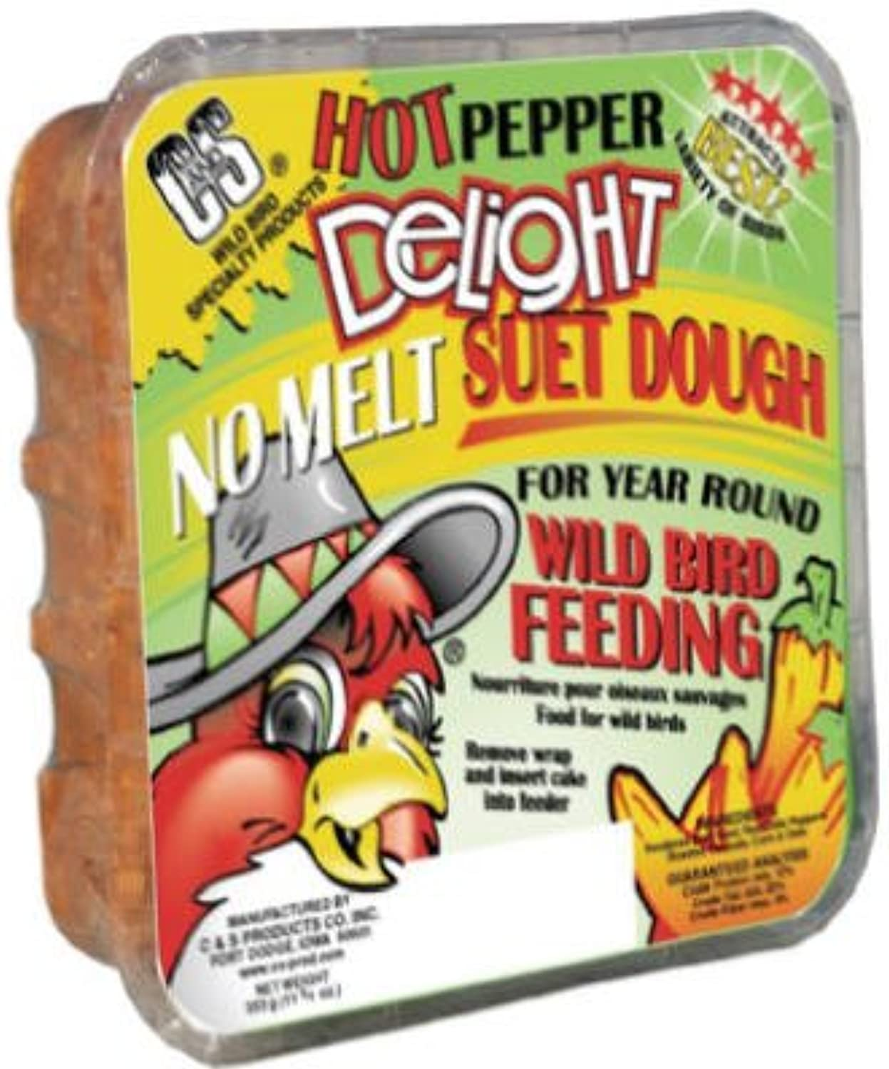 C&S 11.75 oz. Hot Pepper Delight Wild Bird No Melt Suet Dough [Set of 12]
