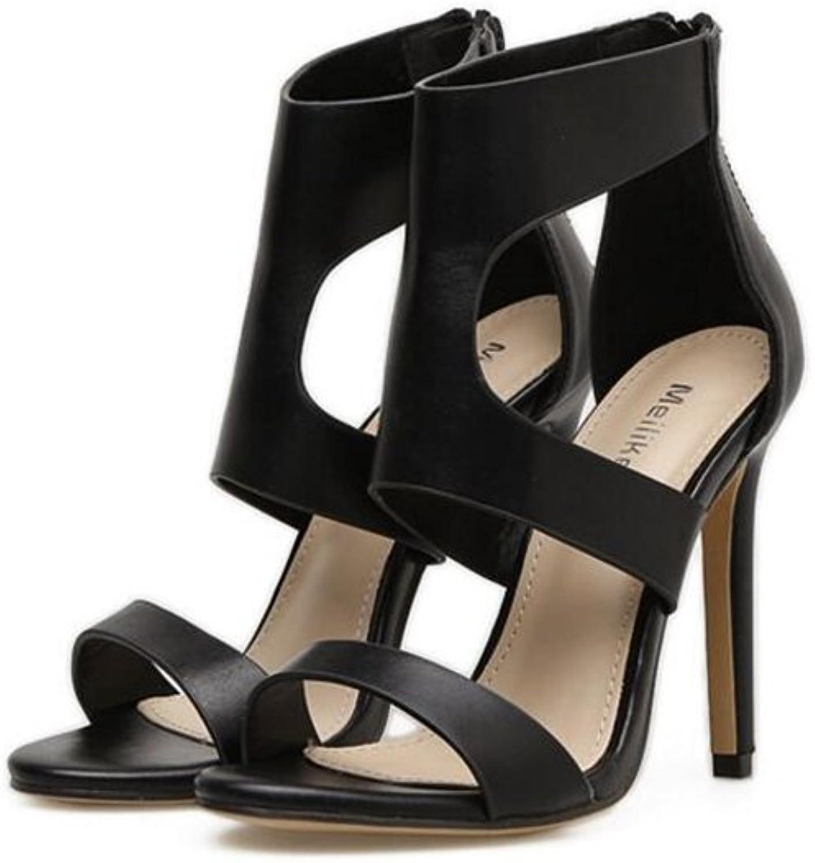 Women's Comfortable Open Toe Crisscross Strappy Platform Stiletto High Heel Sandal