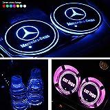Dessous de verre LED ZLDM - 7 couleurs et 3 modes de chargement USB - Pour décoration intérieure de voiture