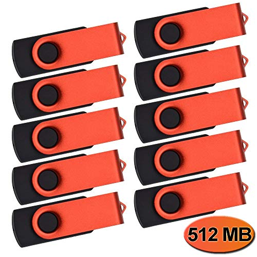 512MB Memorias USB 50 Piezas Pen Drive - Kepmem Pequeña Capacidad USB 2.0 Flash Drives Funcional Rojo Pen Drive 512 MB Práctico Memoria Sticks Regalar para Guardar Poca Información
