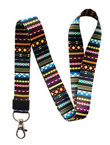 SENLLY Umhängeband Schlüsselband Neck Lanyard strip mit Karabinerhaken, für ID Badge Card Holder, Ausweishülle, Schlüssel, Mobile Handys Telefon (Trib)