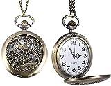 Reloj de Bolsillo de Cuarzo para Mujer, Hombre, Reloj de Bolsillo, urraca ahuecada, Flor, pájaro, Cubierta abatible, Cadena de aleación, Colgante, Relojes, Decorar Regalo para Padre