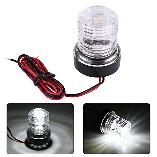 Keenso Marine Ankerlicht, 12V 360 ° Weißes LED-Ankerlicht Wasserdicht Boot LED Navigationslicht für alle Bootsgrößen unter 12m
