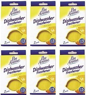 Pan Aroma Lot de 6 paquets de désodorisants pour lave-vaisselle Parfum citron 2 par paquet