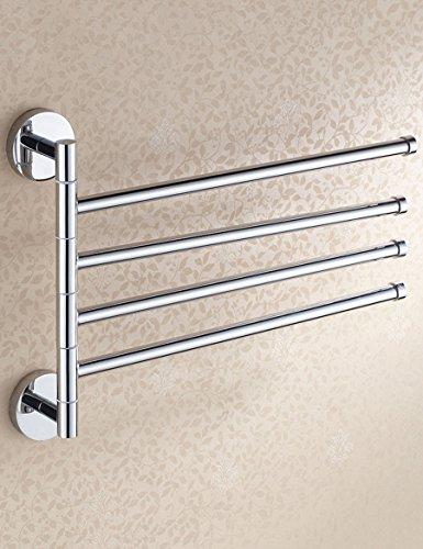Barre à serviette en acier inoxydable Porte-serviettes en cuivre intégral en cuivre Salle de bain en rotin Porte-serviettes en cuivre Chrome Assurant la qualité et la longévité. ( taille : 380*226mm )