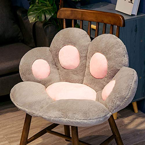 Almohada de pata de gato Cojín de asiento de animal Sofá de felpa pequeño relleno Piso interior Silla para el hogar para comedor, dormitorio, sala de estar, oficina