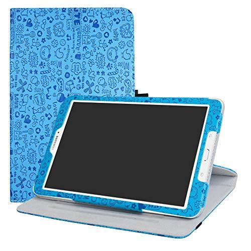 """LFDZ Galaxy Tab E 9.6 Rotante Custodia, Slim Girevole Smart 360 Gradi di Rotazione Case Cover Custodia Protettiva per Samsung Galaxy Tab E 9.6"""" SM-T560 SM-T561 Tablet,Azzurro"""
