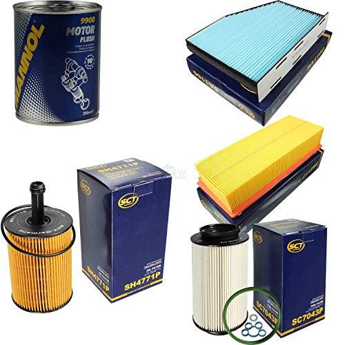 Original SCT Inspektionspaket Filter Set + Motor Flush Motorspülung 11586694