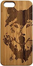 Wolf Rose iPhone SE or iPhone 5 or 5S Case. Bamboo Wood Cell Phone Cover Skin. Native American Spirit Animal Totem. iMakeTheCase Phone Case
