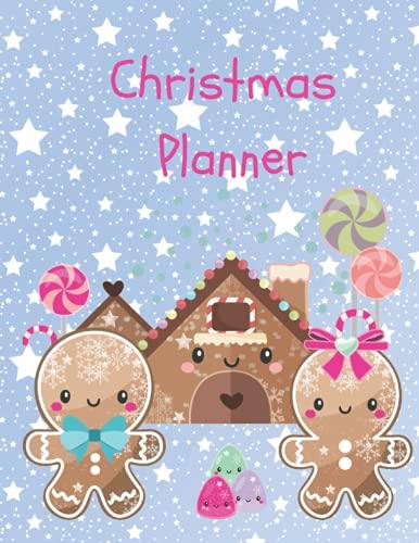Cuaderno organizador de Navidad de pan de jengibre: 86 páginas de diversión navideña