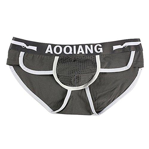 PPangUDing Unterhosen Unterwäsche Herren Slips Seamless Microfaser Stretch Baumwolle Hohe Taille Weich Atmungsaktiv Hipster Panty Panties Boxershorts