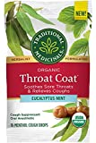 Traditional Medicinals Throat Coat Organic Cough Drops, Eucalyptus Mint with Menthol, Soothes Sore Throats & Relieves Coughs, 16ct.