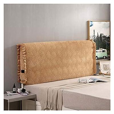 ^ _ ^ MATERIAL DE LA CABECERA: La funda de la cabecera de la cama está hecha de terciopelo. Resistente a las arrugas. Hecho de terciopelo de diamantes con tela acolchada, para que se sienta suave y cómodo cuando la espalda en la colcha ^ _ ^ AHORRE S...