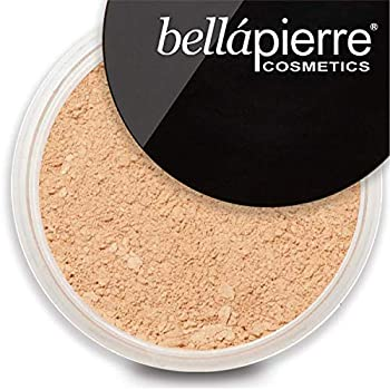 bellapierre Mineral Foundation SPF 15 Loose Finishing Powder | All-Natural Vegan & Cruelty Free Full Coverage Concealer | Hypoallergenic & Safe for All Skin Types | Oil & Talc Free - 0.32 Oz Latte