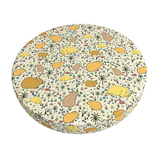 Round Bar Stools Cover,Capybaras,Stretch Chair Seat Bar Stool Cover Seat Cushion Slipcovers Chair Cushion Cover Round Lift Chair Stool