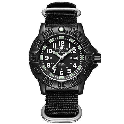 Reloj multifunción para Hombre, Reloj Militar con Movimiento de Cuarzo, 50M, Reloj Deportivo Luminoso Impermeable al Aire Libre